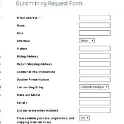 Gunsmithing Request Form